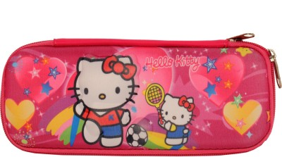 Priya Exports Kitty Cat Art Fabric Pencil Box