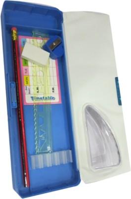 DCS Double Sided Happy Kids Art Plastic Pencil Box