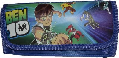 RBD Stylish Blue Art Plastic Fabric Pencil Box