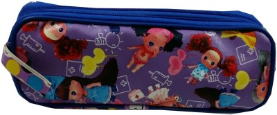 Ryka Baby Doll Cartoon Art Rexine Cloth Pencil Box