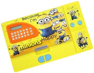 cloud9JP Minnion Minnions Art plastic Pencil Boxes(Set of 1, Yellow)