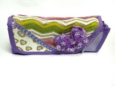 RBD Stylish Purple Art Plastic Fabric Pencil Box