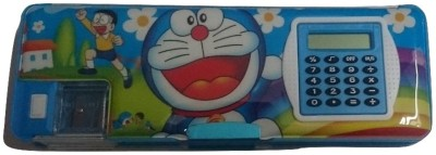 Gift Chachu Calculator Doraemon Art Plastic Pencil Box