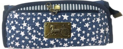 Aardee Qitong lock and key stars Design Art Thick fabric Pencil Box