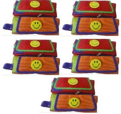 DreamBag smiley Smiley with three chains and a Flap Art cotton Pencil Boxes