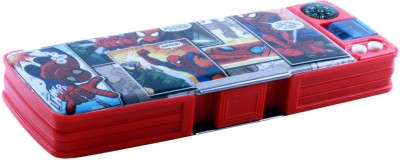 HM International Spiderman Cartoon Art Plastic Pencil Box