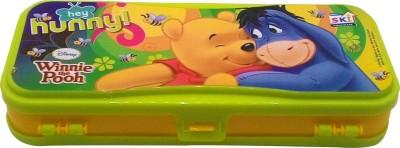 SKI Winnie the Pooh Hey Hunny Art Plastic Pencil Box