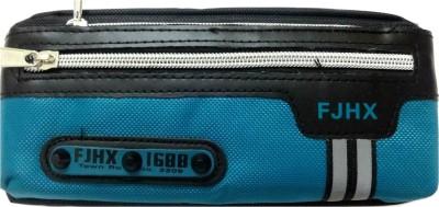 Aardee FJHX Zip Design blue Art Thick Fabric Pencil Box