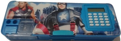 Gift Chachu Calculator Avengers Art Plastic Pencil Box
