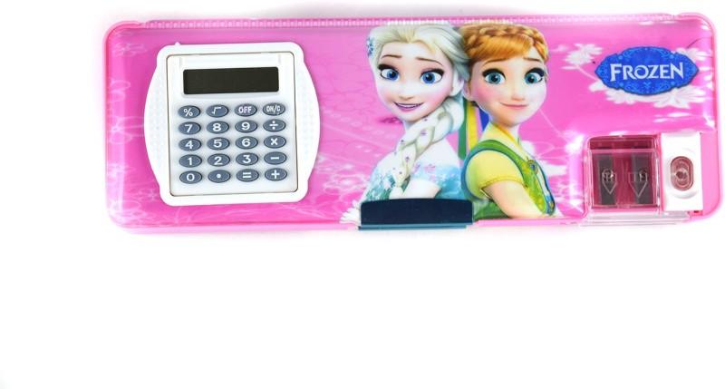 Funmatic Inbuilt Calculator & Sharpner Frozen Art Plastic Pencil Box