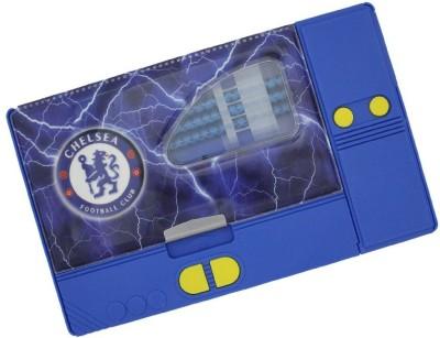 Shopaholic Chelsea Football Club Art Plastic Pencil Box(Set of 1, Blue)