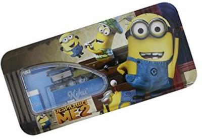 Shopaholic Minion Characters Art Metal Pencil Box
