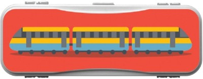 SKIN4GADGETS Skin4Gadgets TRAIN Designer Campass Box PATTERN Art Plastic Pencil Box