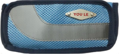 Aardee You Le Mesh Design Blue Art Thick Fabric Pencil Box
