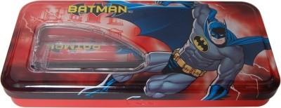 HM INTERNATIONAL BATMAN Cartoon Art Metal Pencil Box