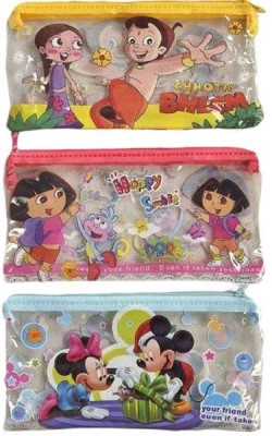 AshmAadi Boys-Girls Cartoons/Characters Art PVC Pencil Boxes
