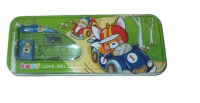 Karta Baby G With Sharpner & Rubber Art Metal Pencil Box