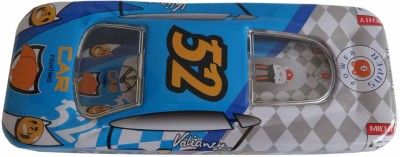Synergy Racer Car-Blue 52 Art Metal Pencil Boxes