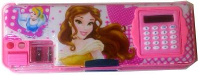 Karta Princess2 With Calculator & Dual Sharpner Art Plastic Pencil Box