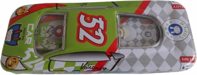 Synergy Racer Car-Green 52 Art Metal Pencil Boxes