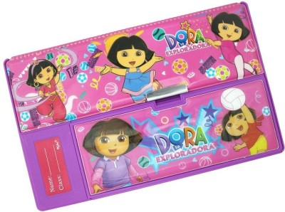 Cloud9JP dora Dora pic Art plastic Pencil Box(Set of 1, Pink)