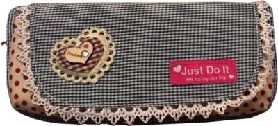 Zhong shan Heart Ribbon Art Cloth Pencil Box