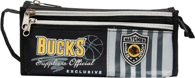 Pokizo Sports Striped Striped Art High Quality Fabric Pencil Box