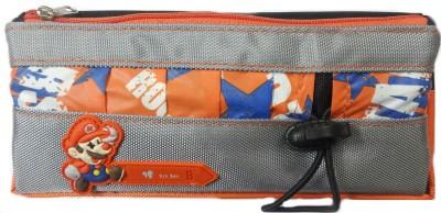 Aardee Multicoloured orange Design Art Thick fabric Pencil Box