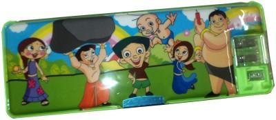 Karta Chota Bheem G With Led Light & Dual Sharpner Art plastic Pencil Box
