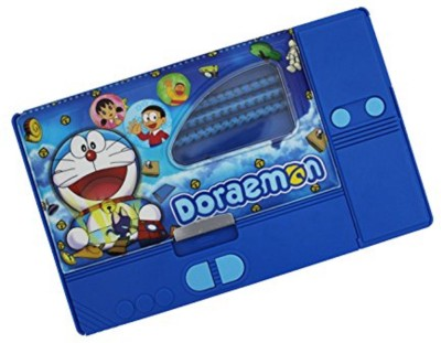 Shopaholic Doraemon Cartoon Art Plastic Pencil Box(Set of 1, Multicolor)