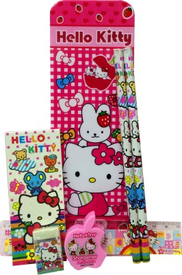 Gayatri Creations HELLO KITTY 1 PENCIL BOX, 2 PENCILS, 1 NOTE PAD, 1 RULER, 1 ERASER, 1 SHARPENER Art PLASTIC Pencil Box