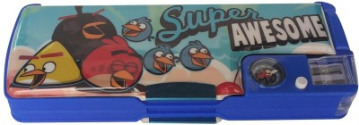Excel Innovators Magnetic Box With Magnifying Glass Cartoon Character Art Plastic Pencil Box