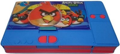 Gift Chachu Jumbo Angry Birds Art Plastic Pencil Box(Set of 1, Multi Colour)