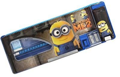 Shopaholic Minions Cartoon Art Plastic Pencil Box(Set of 1, Multicolor)