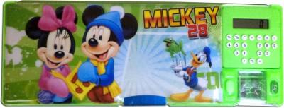 Karta Micky Big With Calculator & Dual Sharpner Art Plastic Pencil Box