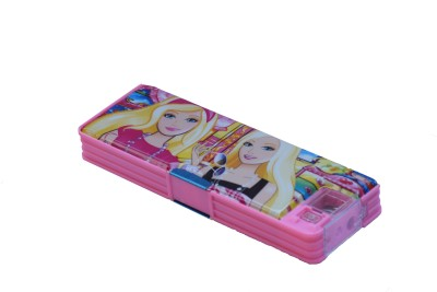Tara Lifestyle Daisy With Study Light Printed Art Plastic Pencil Box