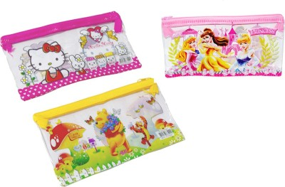 Blossoms pvc animal, cartoon Art pvc Pencil Boxes