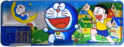 Karta Doraemon Shine Dual Sharpner Art Plastic Pencil Box