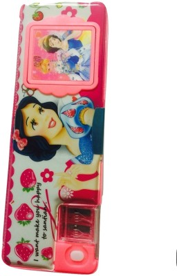 Cutebaby Mix Characters(single character in one pencil box) Multi - Text Art Plastic And Magnate Pencil Box