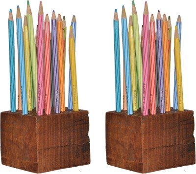 Dimensions Stationary DP08 Rustic Art solid wood Pencil Boxes