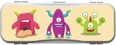 SKIN4GADGETS MONSTERS4 Designer PATTERN Art Plastic Pencil Box