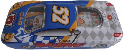 Synergy Racer Car-Dark Blue 52 Art Metal Pencil Boxes
