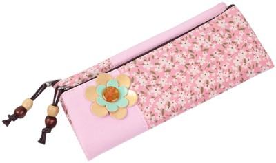 HM International Floral Print Plastic Pencil Box