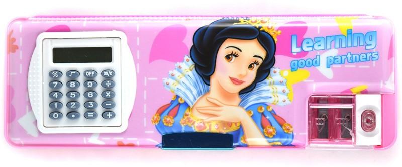Funmatic Inbuilt Calculator & Sharpner Cinderella Art Plastic Pencil Box
