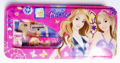 Shree Krishna Handicrafts And Gallery Barbie Cartoon Art METAL Pencil Box(Set of 6, PINK)