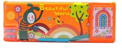 Neo Gold Leaf School Fancy Art Plastic Pencil Box