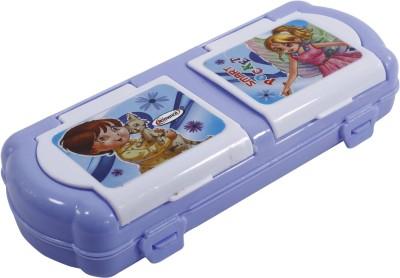 Edit One Romance Smart Pocket & Boy With Cat & Girl Art Plastic Pencil Box