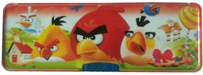 Shree Krishna Handicrafts And Gallery Magnetic Double Sided With Led Light Angry Birds Art Plastic Pencil Box