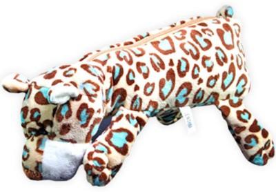 SJ Animal Tiger Art Soft Fabric Pencil Box