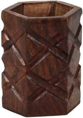 Derien diamond hand carved Art wooden Pencil Box